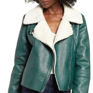 BlankNYC Faux Leather and Faux Shearling Jacket